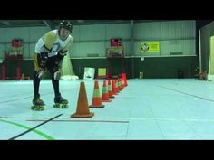 Roller Derby Lateral Quickness with Sausarge Rolls #11 Derby Coach - YouTube