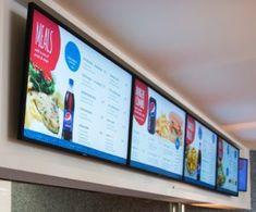Fastfood menu na monitorach