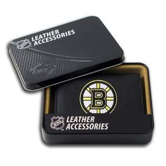 Boston Bruins Wallet: Embroidered Trifold by Rico. $24.99. Genuine Leather Trifold With Detailed Team Logo Embroidery.. Save 29% Off!