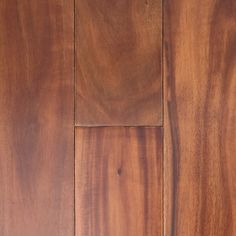 Acacia Tigerwood lives up to it's name with various shades of orange underneath dark grains. Add this solid, smooth exotic hardwood to your home with Super Floor Center.