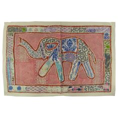 36 Elephant Animal Patchwork Embroidered WALL by RoyalFurnish, $19.99