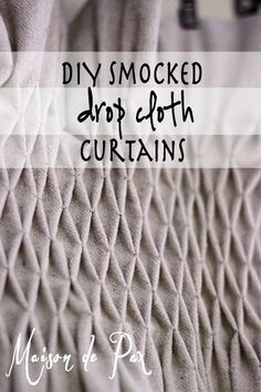 These diy smocked drop cloth curtains are gorgeous and so inexpensive! - via maisondepax.com