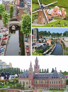 Madurodam in Holland - Peering down at the buildings and streets in Madurodam, makes one feel like a giant. This incredibly popular tourist attraction was created in 1952 and depicts a dutch town, including landmarks and notable buildings that can be found in the area. The carefully manicured mini lawns and tiny streets look incredibly realistic
