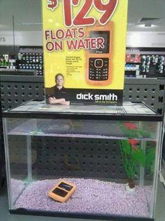 flota en el agua!