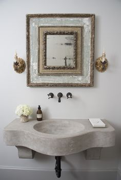 Marble Sink, Antique Mirror