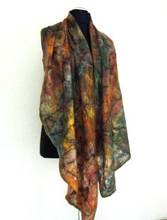 Felted scarf shawl  in multi colour   large and от crazywoolLT
