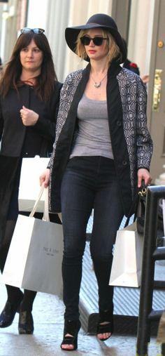 Jennifer Lawrence #streetstyle #fashion #celebrity