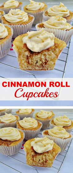 The ever popular Cinnamon Rolls made easily in cupcake form ! So quick and easy (no swirling of the batter) Cinnamon Roll Cupcakes, Baking Cupcakes, Yummy Cupcakes, Cinnamon Rolls, Cupcake Cakes, Cinnamon Bread, Cupcake Flavors, Cupcake Recipes, Dessert Recipes