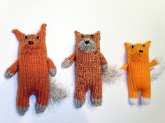 Hand Knit Mini Fox di EmilysIsland su Etsy