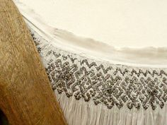 Detail of embroidered bodice and smocking on the wedding gown of Mary of Hungary for her marriage to Lajos IV, 16th Century Clothing, 16th Century Fashion, Renaissance Costume, Renaissance Clothing, Historical Costume, Historical Clothing, Medieval Embroidery, German Outfit, Landsknecht