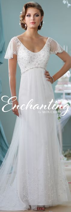 Enchanting by Mon Cheri Spring 2016 ~Style No. 116139 #weddingdresseswithsleeves