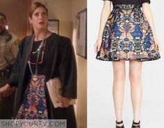 Bad Judge: Season 1 Episode 8 Rebecca's Printed Skirt