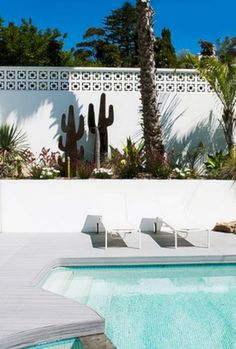Swimming Pool Ideas : The desert gardens and architecture of Palm Springs inspired the outdoor spaces