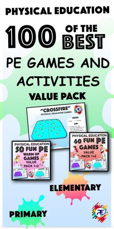 100 of the best PE GAMES and activities for classrooms Over 100 Games and Activities for Physical Education Lessons >>>>>> Physical Education Lesson Plans, Elementary Physical Education, Physical Activities, Elementary Schools, Motor Activities, Movement Activities, Classroom Behavior Management, Classroom Behaviour, Behaviour Management