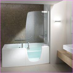 jacuzzi tub for small bathroom bathtubs for small bathrooms bathtubs for small bathrooms and tubs for small bathrooms whirlpool tubs corner jacuzzi tub bathroom designs One Piece Tub Shower, Walk In Tub Shower, Bathtub Shower Combo, Tub To Shower Remodel, Walk In Tubs, Bathroom Tub Shower, Glass Shower, Shower Walls, Shower Door