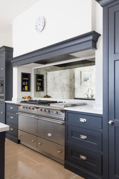 The Lacanche Chalonnais range cooker at the beautiful Oak Lodge project in Norfolk. #humphreymunson
