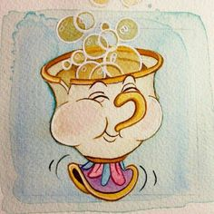 Watercolor workart Chip (from Beauty and the Beast)