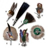 Hunting hat pin: Classic European brooches and lapel pins crafted in Germany add distinctive and recognizable country and hunting themes to your hunting hat or lapel.