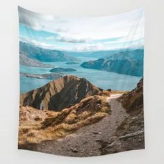 Mountain Path Roys Peak New Zealand Wall Tapestry