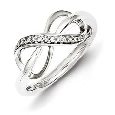 Sterling Silver Diamond Fashion Ring