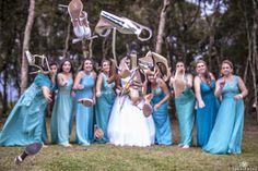 Quando a Noiva e Madrinhas resolvem Jogar os sapatos no Fotógrafo! 😂😝😝😂😂😂