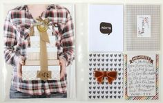 december daily day 19 by pgarrison at @Studio_Calico.....stack of presents, large photo, person in the photo