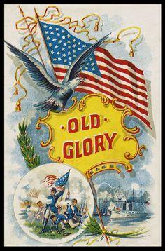 Old Glory vintage patriotic postcard