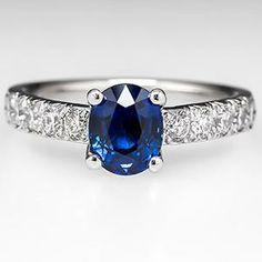 Scott Kay Sapphire Engagement Ring Platinum