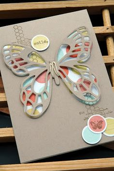 Butterfly card by Paperwitch.