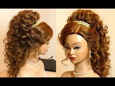 Prom hairstyle for long hair tutorial - YouTube