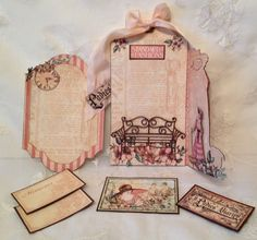 Anne's A Ladies' Diary tag unfold in the most magical ways! Beautiful! #graphic45 #tags