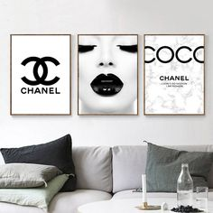 FASHION Set of 3 Black and White Inspired by Coco Chanel Quote, FASHION Typography Gallery Wall Art, Print Picture Poster.
