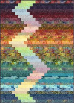 Frequency Quilt opt 1 - jelly roll