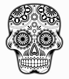 extra large sugar skull version 7 wall vinyl decal by dabbledown ... - Sugar Skull Coloring Pages Print