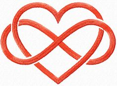 Infinite Love free machine embroidery design from Embroideres
