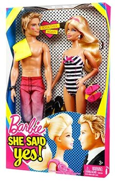 One new Barbie and Ken Doll Set. Perfect for that Barbie & Ken fan on your gift list! One Ken Doll with One Barbie Doll with .