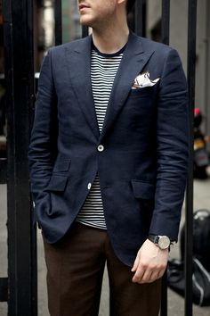 Nice attention to detail...white buttons and, of course, the pocket square!