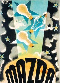 José Rocha - 1930. Mazda vintage light bulb ad