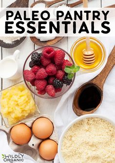 Paleo Pantry Essentials Paleo Pantry Essentials If you re trying out a Paleo… Kitchen Recipes, Paleo Recipes, Real Food Recipes, Free Recipes, Organic Nuts, Paleo For Beginners, Pantry Essentials, Paleo Treats, Healthy Eating Habits