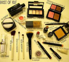 Best of ELF Cosmetics - i have most of these but its always good to keep a list for when i run out :)