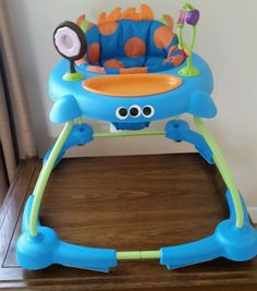Cosco Simple Steps Walker Monster Syd Baby Safety Seat Fun Toy Toddler Play Tiny…