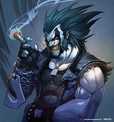 Lobo by Mauricio Herrera (DC comics) Anime Comics, Marvel Comics, Arte Dc Comics, Dc Comics Art, Marvel Vs, Comic Book Characters, Marvel Characters, Comic Character, Comic Books Art