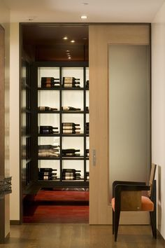 Wine room:Kern Residence by Semple Brown Design
