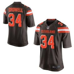 """$23.88 at """"MaryJersey""""(maryjerseyelway@gmail.com) Nike Browns 34 Isaiah Crowell Brown Team Color Men Stitched NFL New Elite Jersey"""