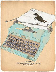 typewriter bird