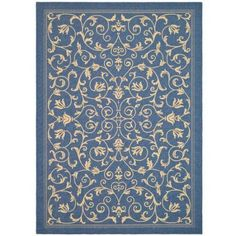 Safavieh Courtyard Dorothy Power-Loomed Indoor/Outdoor Area Rug or Runner, Blue