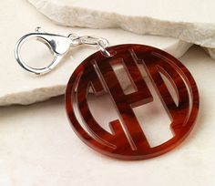 Personalized Monogram Acrylic Key Chain/ by MonogramCollection, $18.00