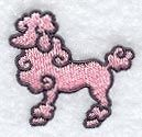 Tiny poodle embroidery