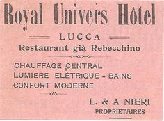 Commercial of Hotel Universo on a magazine dated 1913