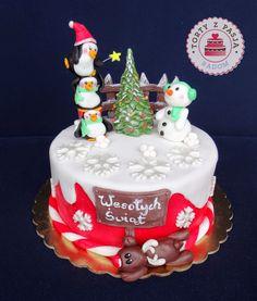 Torty z Pasją:  Tort Święta, Christmas cake, fondant